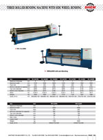 THREE ROLLER BENDING MACHINE WITH SIDE WHEEL BENDING